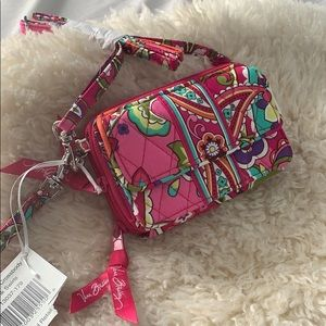 Vera Bradley small crossbody purse wristlet